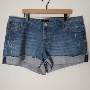 Torrid Folded Hem Denim Shorts